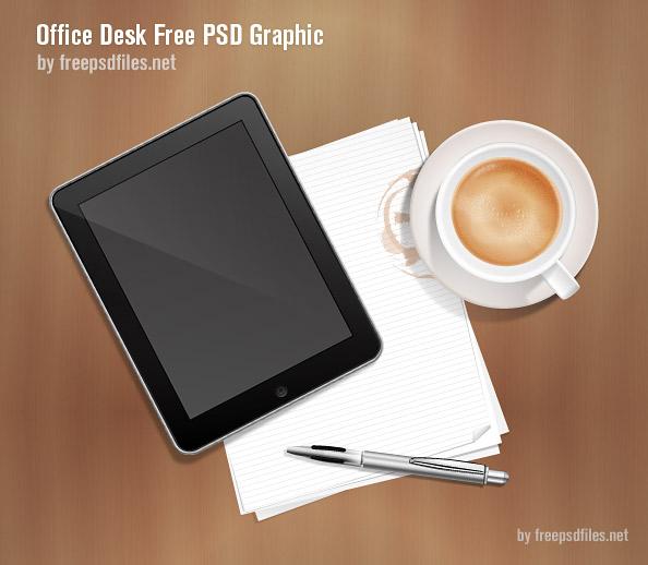 Бесплатное изображение офисного стола в формате PSD