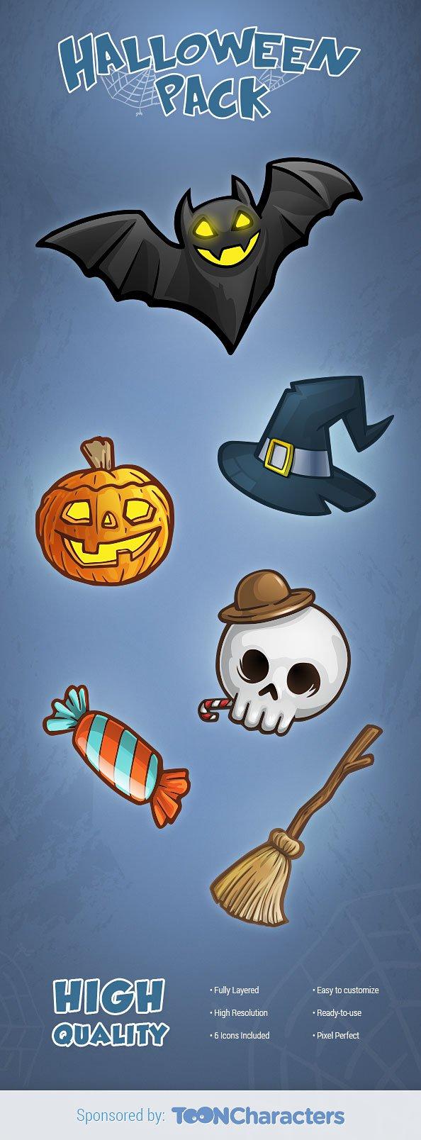 Free_PSD_Halloween_Set_1