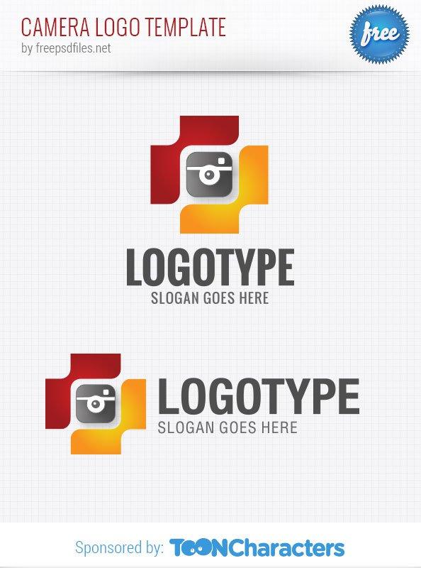 Шаблон логотипа камеры