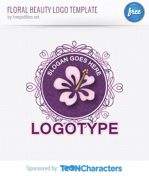 Шаблон логотипа цветочной красоты