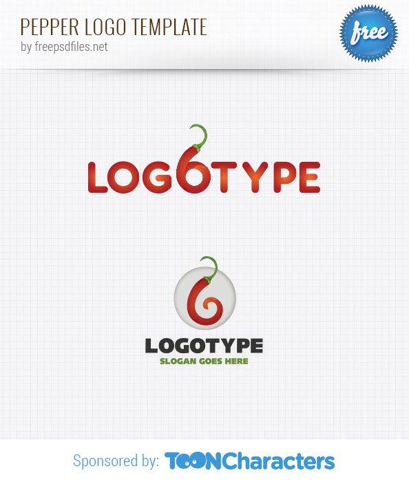 Шаблон логотипа перца