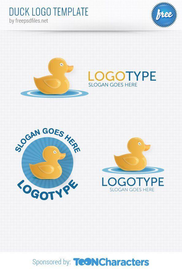 Шаблон логотипа уточки
