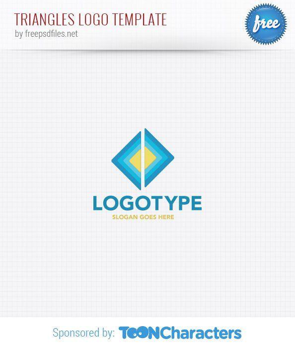 Шаблон логотипа в виде треугольников