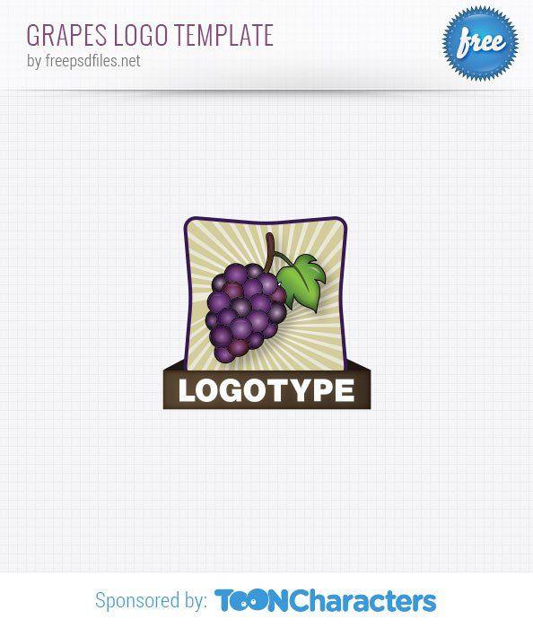 Шаблон логотипа винограда