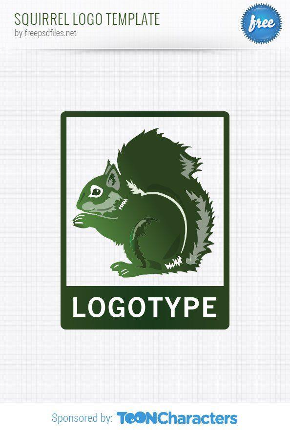 Шаблон логотипа с белкой