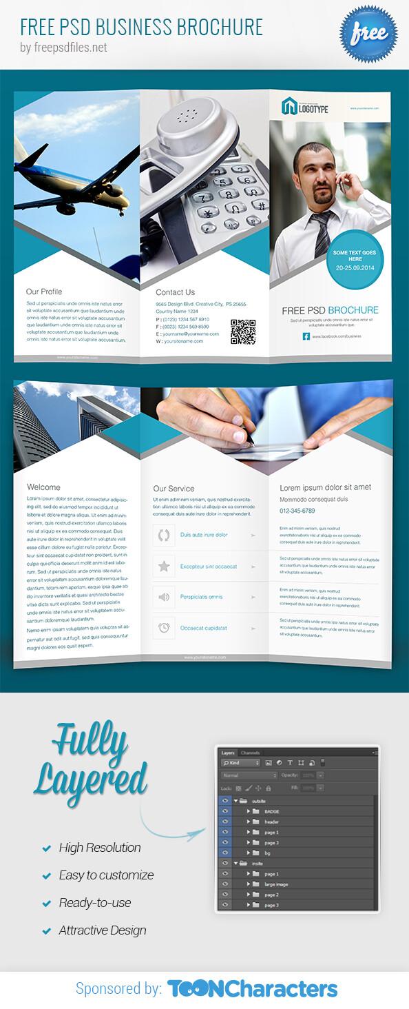 Бесплатный PSD бизнес брошюры