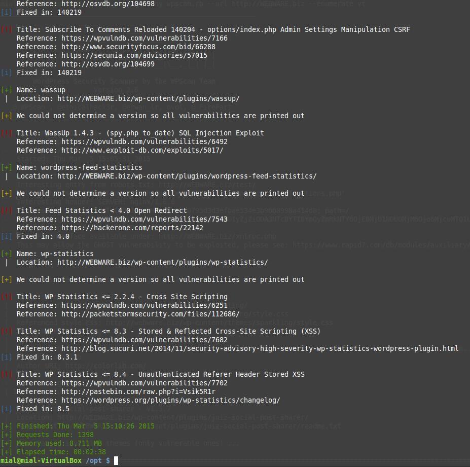 Установка WPScan на Ubuntu (Mint) VPS