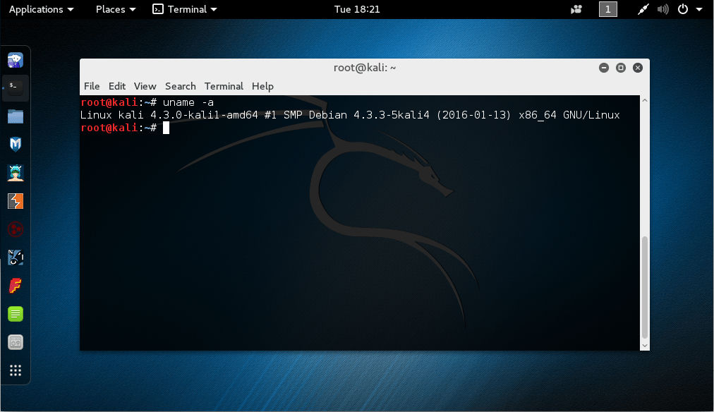 релиз Kali Linux Rolling – 2016.1