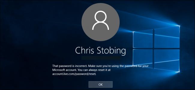 Восстановление забытого пароля для Windows 10