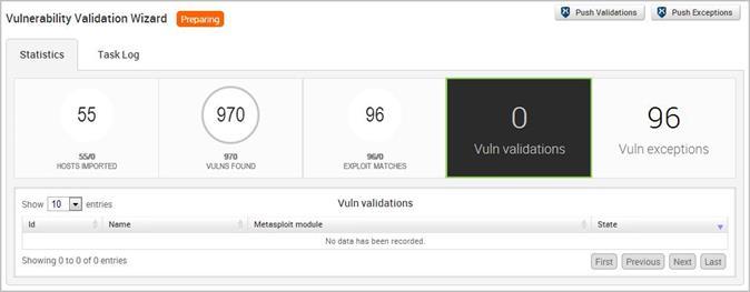 Просмотр проверенных уязвимостей с помощью окна результатов