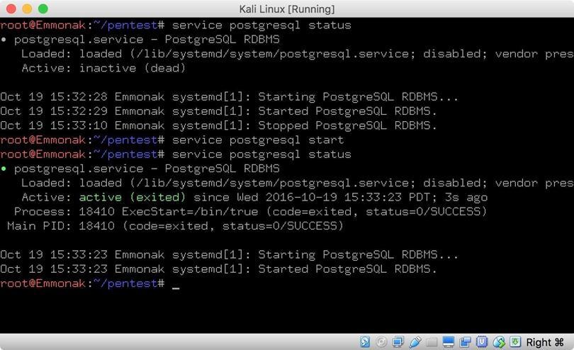 Запустите PostgreSQL