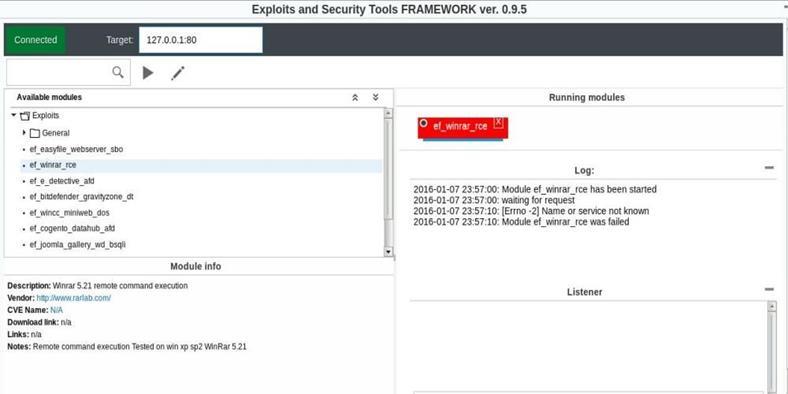 EaST Framework - фреймворк эксплойтов и инструментов безопасности