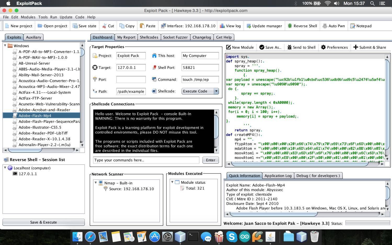 Exploit Pack - IDE для разработки эксплойта