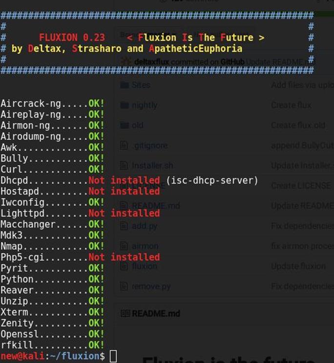 Fluxion - профессиональный взломщик WiFi