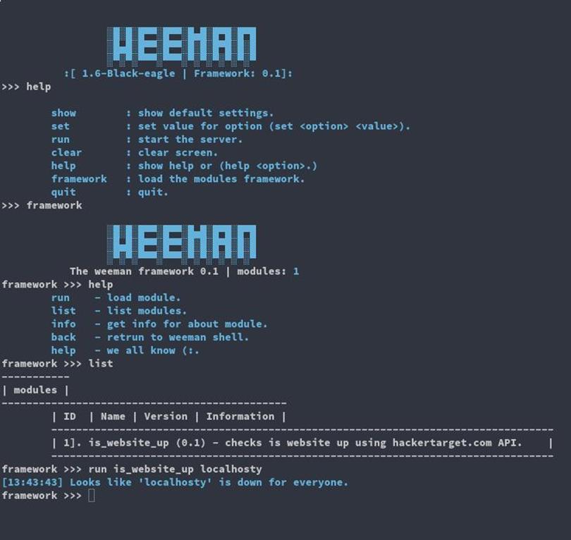 WeeMan - Python HTTP фишинг сервер