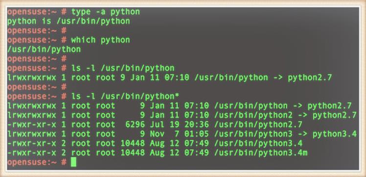 Python установлен на мою OpenSUSE Linux box
