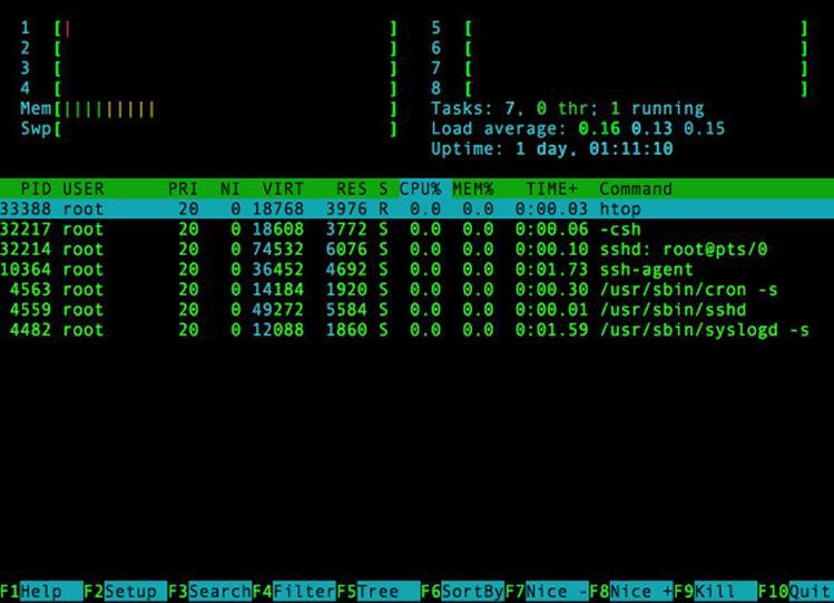 Как отобразить разумное использование cpu с помощью top команды на FreeBSD Unix операционной системе