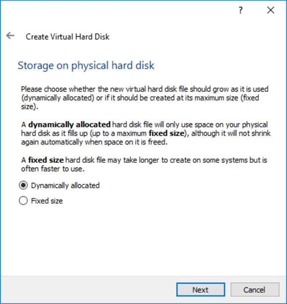 Тип файла жесткого диска