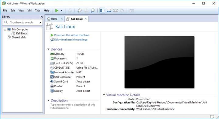 Готовая виртуальная машина для Kali Linux