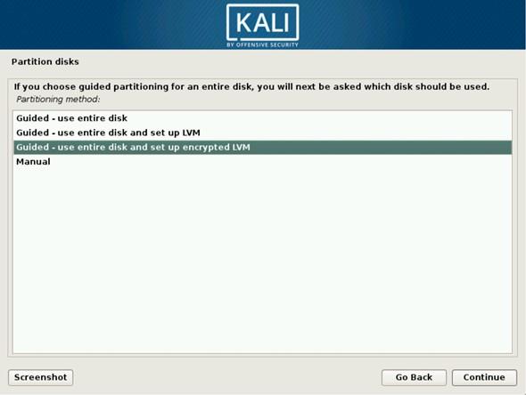 Как установить Kali Linux на зашифрованную файловую систему