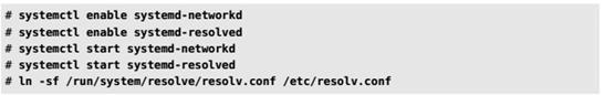 Настройка кали через командную строку с помощьюsystemd-networkd