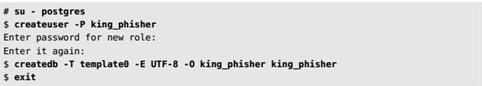 Создание пользователей и баз данных в Кали Линукс